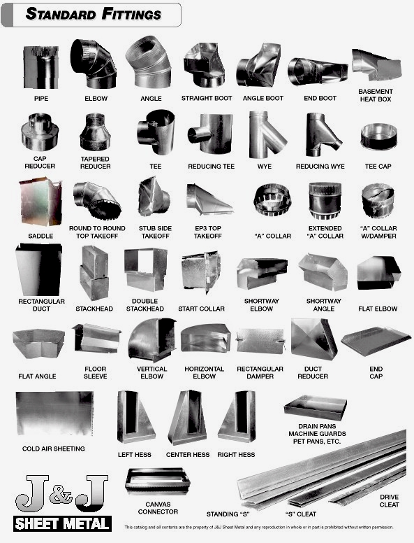 Sheet Metal Ductwork and Fittings - 586-792-2680 - J&J Sheet